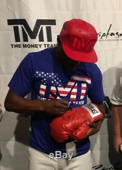 FLOYD MAYWEATHER Signed Boxing Glove +100% Proof & RARE Inscription TMT +JSA COA