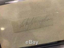 Floyd Arky Vaughan Pittsburgh Pirates Signed Cut Beckett Slabbed Authentic