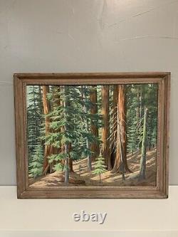 Floyd Copeland Chandler Oil Painting Rickman Grove California Redwoods