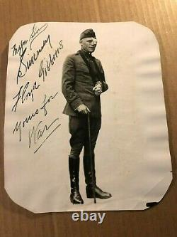Floyd Gibbons Extremely Rare Early Autographed Photo From 1918 After Belleau