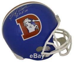 Floyd Little Autographed Denver Broncos D Logo Replica Helmet HOF JSA 22078