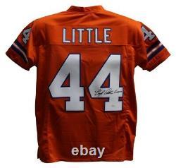 Floyd Little Autographed/Signed Pro Style Orange XL Jersey JSA 25980
