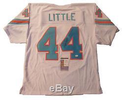 Floyd Little Autographed White Denver Broncos Throwback Football Jersey #2, JSA