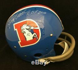 Floyd Little Denver Broncos Signed Autographed Full Size Fs Tk Helmet Jsa Coa
