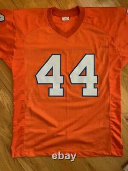 Floyd Little Hand Signed Denver Broncos Jersey+jsa Very Rare 14 Inscriptions