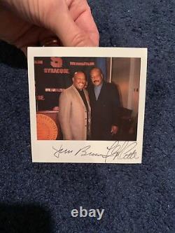 Floyd Little Jim Brown Signed Polaroid Photo Psa Dna Letter Syracuse Football