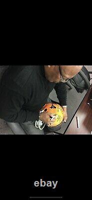 Floyd Little Signed Full Size Syracuse Rk Stat Helmet 22 Inscriptions Jsa W