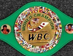 Floyd Maweather Jr & Julio Cesar Chavez signed WBC Belt Beckett Witness BAS COA