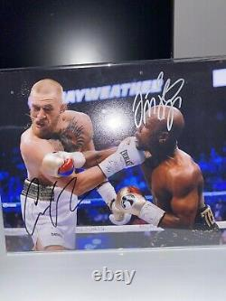 Floyd Mayweather And Conor mcgregor Signed Photo