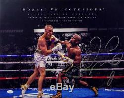 Floyd Mayweather Autographed 16x20 vs Conor McGregor Photo- JSA Auth Silver