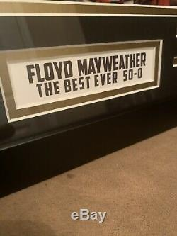 Floyd Mayweather Autographed Framed Picture COA JSA TBE! 50-0