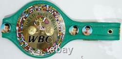 Floyd Mayweather Autographed Green WBC Boxing Belt- Beckett Silver