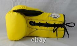 Floyd Mayweather Autographed Yellow Cleto Reyes Boxing Glove- Beckett Auth