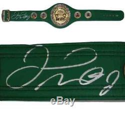 Floyd Mayweather Autographed/signed Green Wbc Boxing Belt 19959 Bas