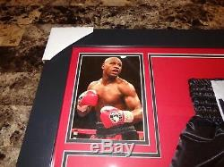 Floyd Mayweather Framed Signed Prop Boxing Shorts Beckett In Person Witness COA