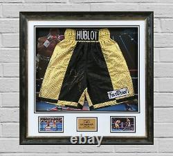 Floyd Mayweather Jnr FRAMED & GENUINE HAND SIGNED Boxing Trunks Proof AFTAL COA