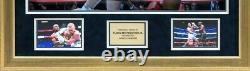 Floyd Mayweather Jnr FRAMED & SIGNED Boxing Trunks Proof McGregor AFTAL COA FTO