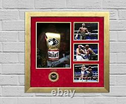 Floyd Mayweather Jnr Signed & FRAMED Boxing GLOVE TBE TMT AFTAL COA (L)