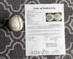 Floyd Mayweather Jr And Manny Pacquiao Signed Baseball Auto Rare Boxing Jsa Coa