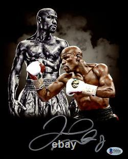 Floyd Mayweather Jr. Authentic Autographed Signed 8x10 Photo Beckett Bas 159719
