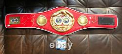 Floyd Mayweather Jr Autograph Signed TBE TMT IBF Boxing Belt Beckett Witnessed