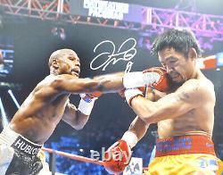 Floyd Mayweather Jr. Autographed 16x20 Photo Vs. Manny Pacquiao Jsa 178318