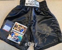 Floyd Mayweather Jr. Autographed Boxing Trunks (COA) PSA