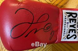 Floyd Mayweather Jr. Autographed Cleto Reyes Red Boxing Glove- Beckett Auth