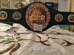 Floyd Mayweather Jr. Autographed Full Size WBC Championship Belt With COA