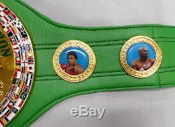 Floyd Mayweather Jr. Autographed Green Wbc Full Size Belt Tmt Beckett 159674