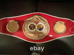 Floyd Mayweather Jr. Autographed IBF Full Size Belt (No Decals) JSA COA