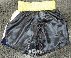 Floyd Mayweather Jr. Autographed Signed Black Boxing Trunks 50-0 Jsa 178292