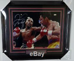 Floyd Mayweather Jr. Autographed Signed Framed 16x20 Photo Beckett 125706