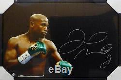 Floyd Mayweather Jr. Autographed Signed Framed 20x30 Canvas Photo Beckett 129107