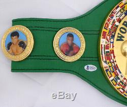 Floyd Mayweather Jr. Autographed Signed Green Wbc Full Size Belt Beckett 157354