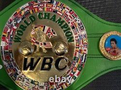 Floyd Mayweather Jr. Autographed Signed Green Wbc Full Size Belt Jsa Tmt Tbe