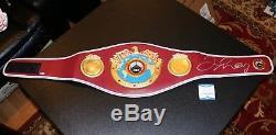 Floyd Mayweather Jr Autographed Signed WBO Boxing Belt Beckett Witnessed PSA JSA