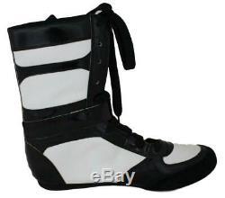 Floyd Mayweather Jr Autographed TMT TBE Black Left Boxing Shoe 50-0 BAS 24969