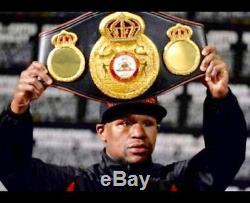 Floyd Mayweather Jr. Autographed WBA Championship boxing belt