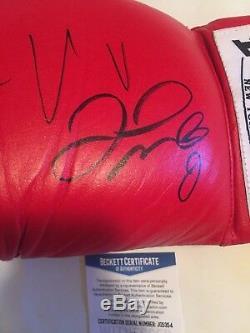 Floyd Mayweather Jr & Conor McGregor Autographed Everlast Glove Beckett COA