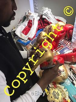 Floyd Mayweather Jr Hand Signed Replica Shorts TBE TMT Money Proof RARE COA