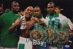 Floyd Mayweather Jr Signed 12x18 Boxing Photo PSA AB89177