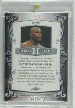 Floyd Mayweather Jr Signed Autograph 2017 Leaf Sports Heroes Certified Auto #2/3