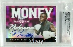 Floyd Mayweather Jr Signed Autograph 2018 Leaf Sports Heroes Prismatic Auto 1/1
