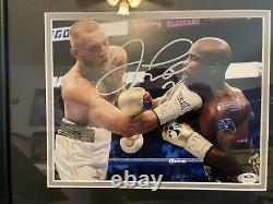 Floyd Mayweather Jr. Signed Autographed McGregor 8x10 inch Photo Framed PSA COA