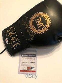 Floyd Mayweather Jr Signed Black 10oz TMT Boxing Glove PSA DNA Certified