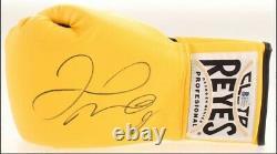 Floyd Mayweather Jr. Signed Cleto Reyes Boxing Yellow Glove Beckett COA