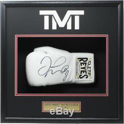 Floyd Mayweather Jr Signed Cleto Reyes White Boxing Glove Shadowbox Beckett BAS