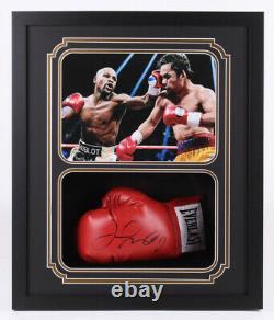 Floyd Mayweather Jr. Signed Custom Framed Boxing Glove Shadow Box Display JSA