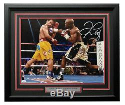 Floyd Mayweather Jr Signed Framed 16x20 Manny Pacquiao Fight Photo JSA